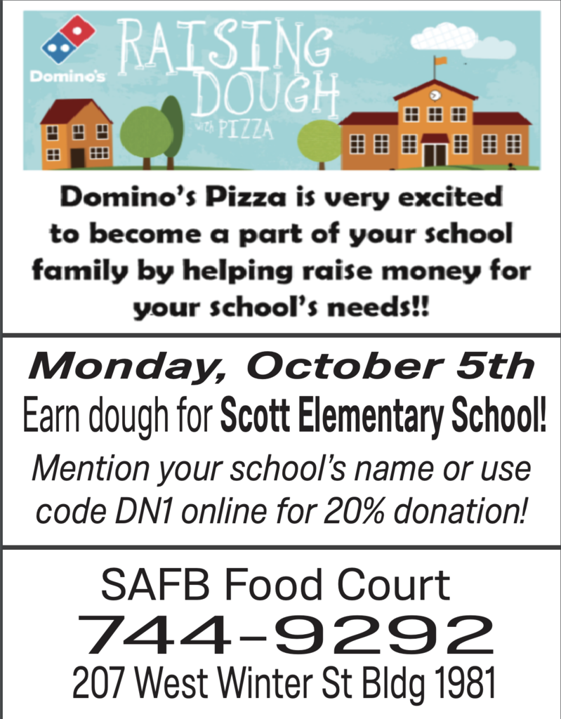 Scott Elementary Pizza Fundraiser