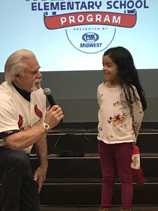 Al Hrabosky with WES student