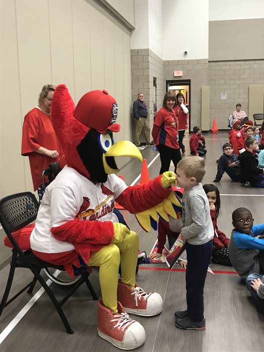 Having fun with Fredbird