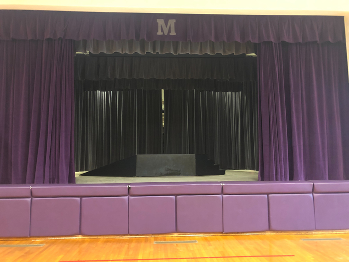 Mascoutah Elementary-new stage curtains!