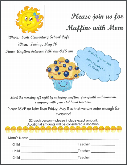 Muffins with Mom 2019