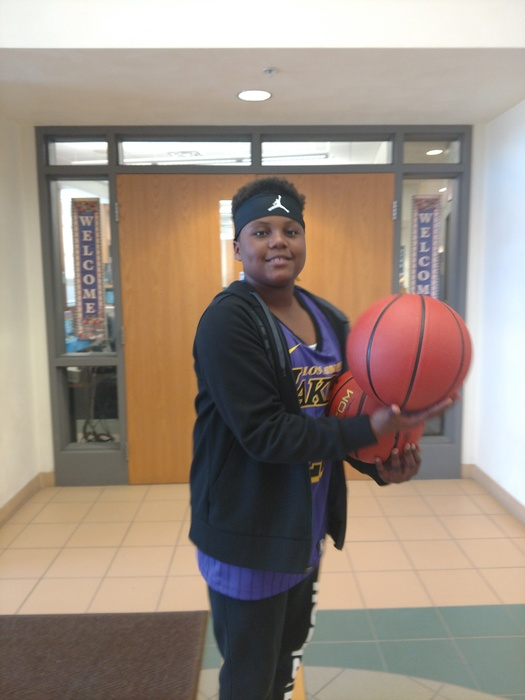 Student donates basketballs to MMS for his birthday