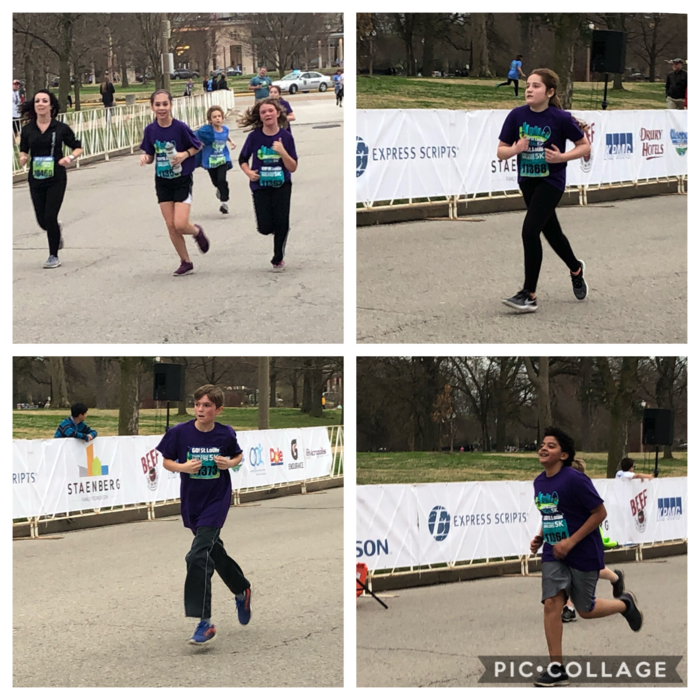 Students running the race
