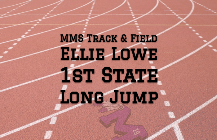 Ellie Lowe: 1st at State in the Long Jump!