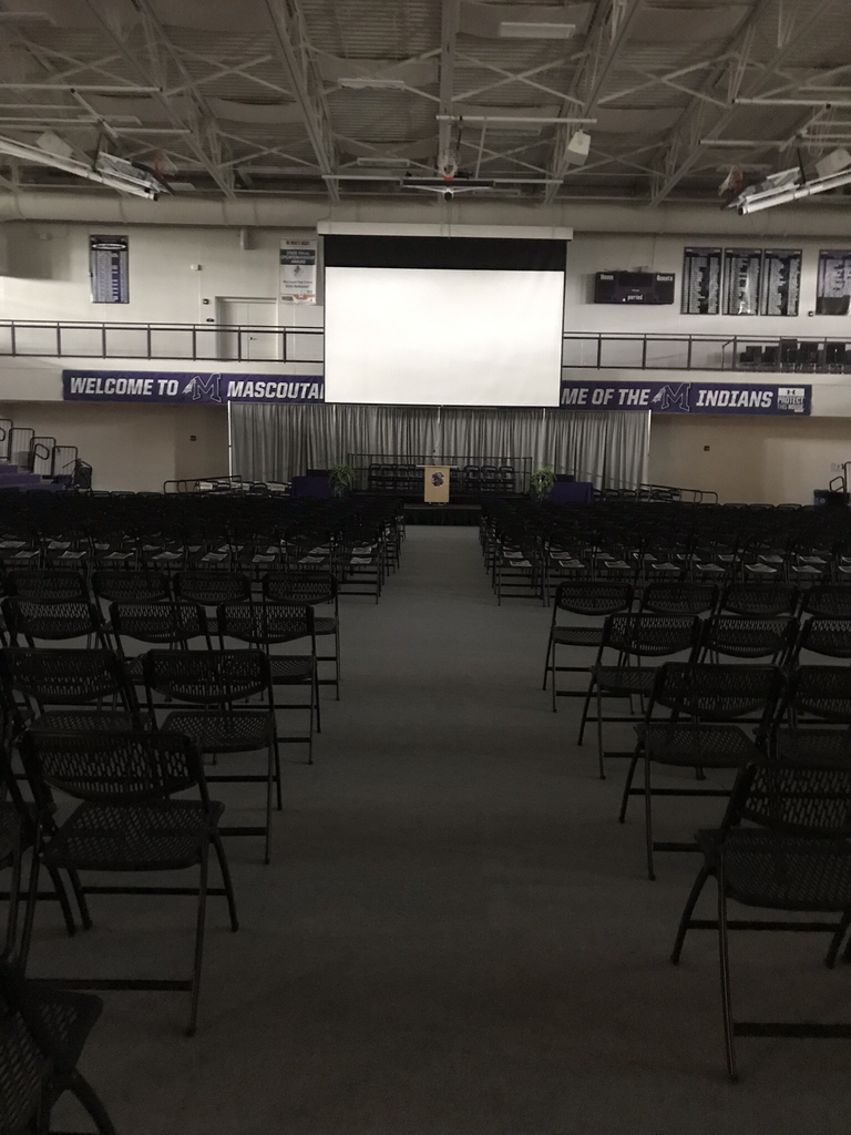 Gym all ready for commencement!