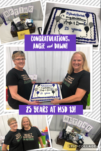 Mrs. Largent and Mrs. Davis retire