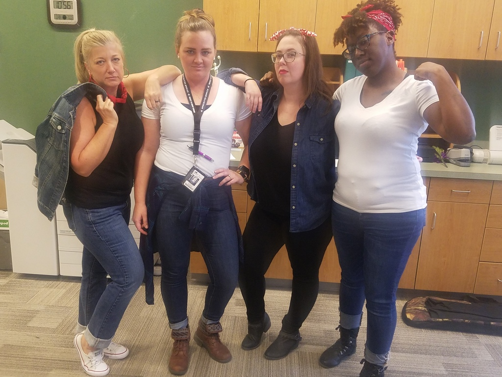 "Teachers dress up after reading ""The Outsiders""."