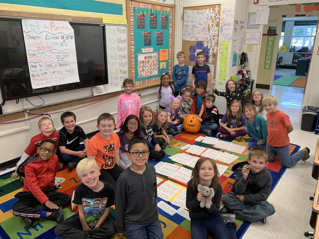 Mrs. Hoerchler's class pumpkin contained 545 seeds!