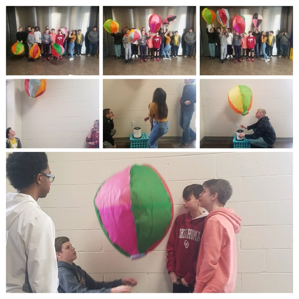 Flight and Space students test out their hot air balloons