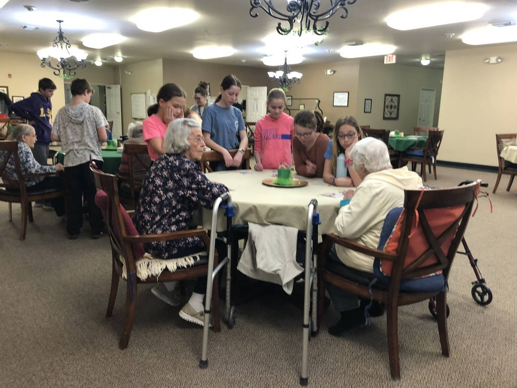 RRR plays bingo at assisted living center