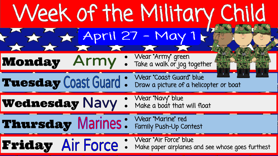 week of military child